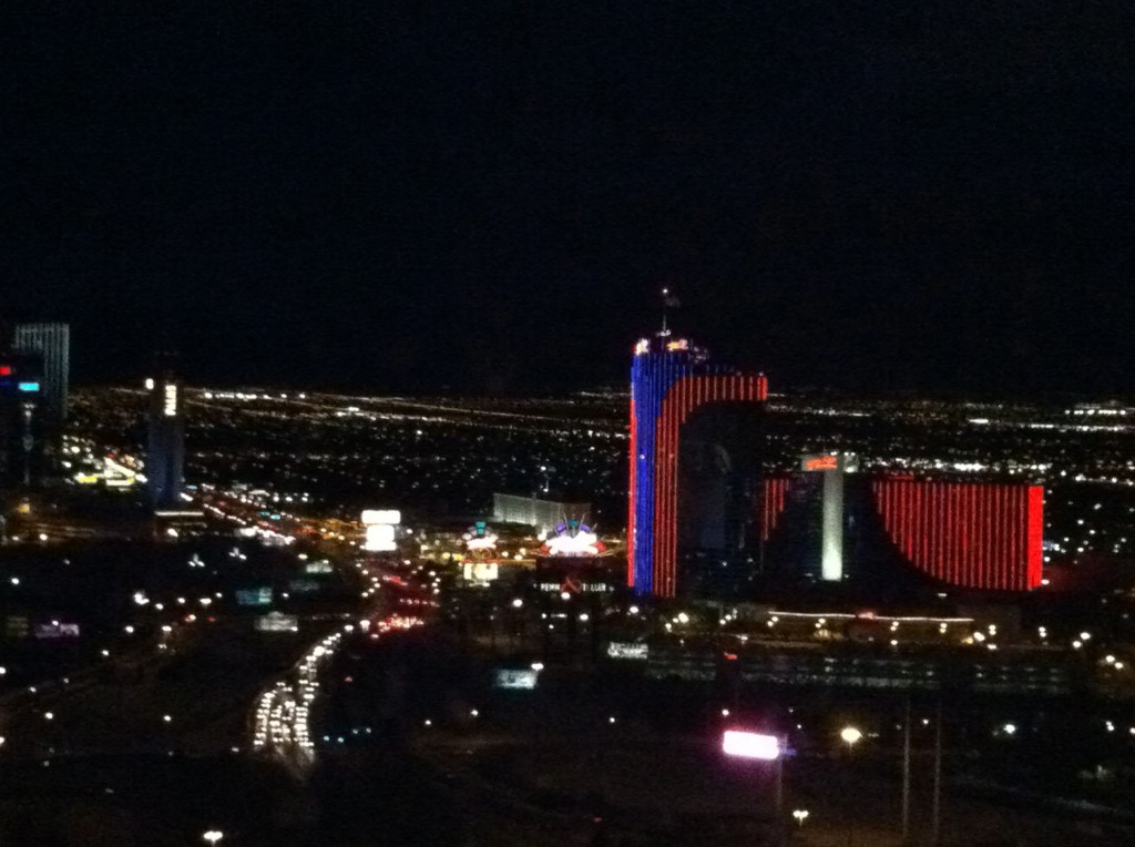 View of the Rio in Las Vegas from the Bellagio