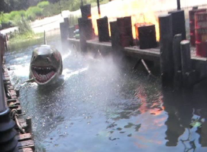 Jaws making an appearance at Universal Studios Hollywood.