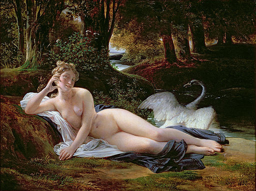 Francois Edouard Picot - painting of Leda with swan