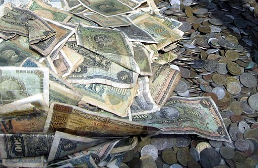 pile of greek money