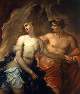 Cervelli painting of Orpheus and Euridice