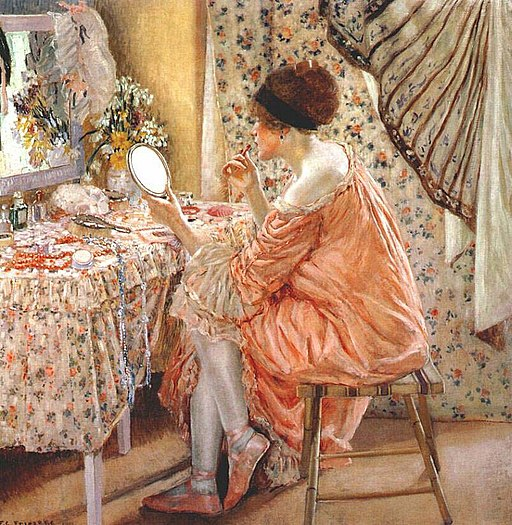 "The Painting ""Before Her Appearance"" by Frederick Carl Frieseke 1913"