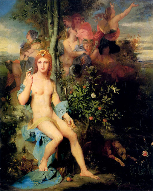 Apollo and the Nine Muses painting by Gustave Moreau