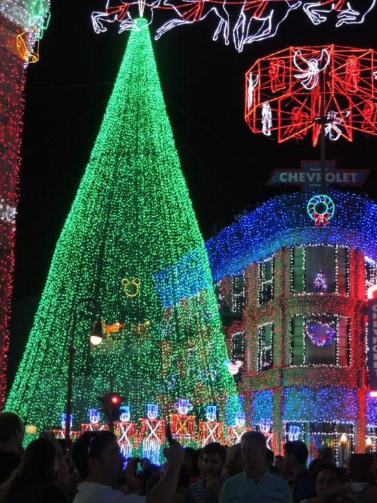 Christmas tree of lights at Disneyworld.