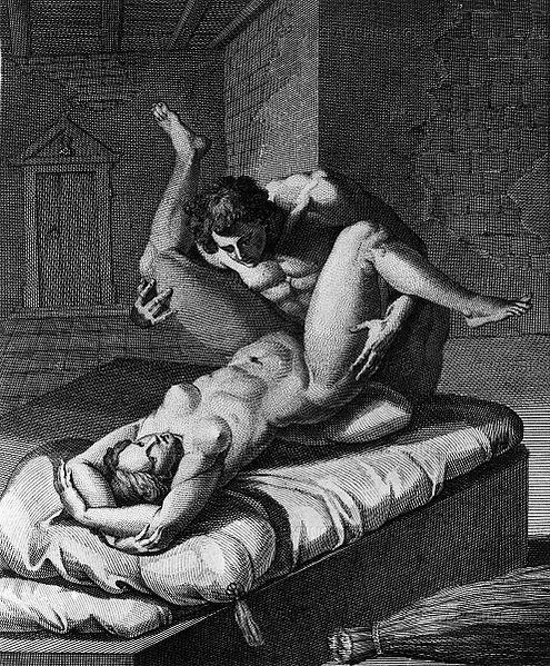 the Greek Polyenos and the Trojan Chryseis having sex