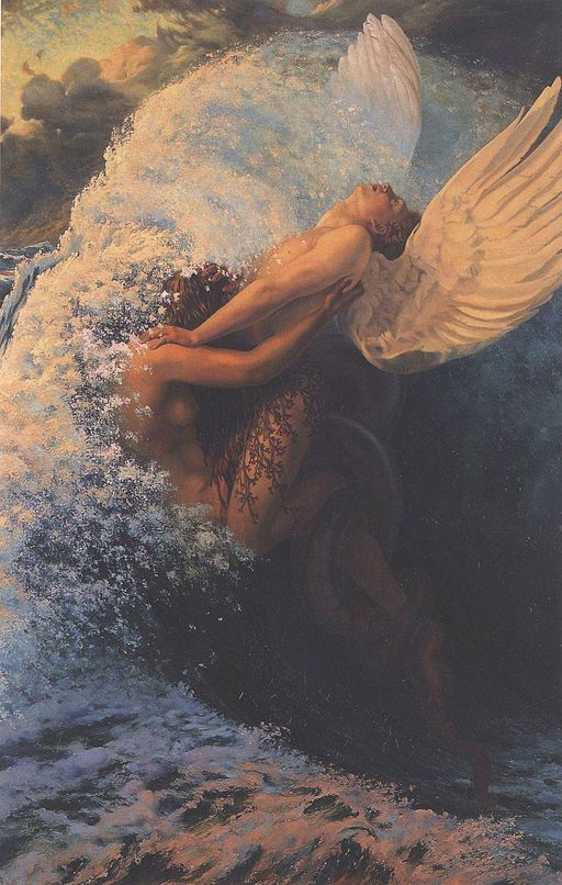 Painting by Carlos Schwabe called Spleen et ideal.