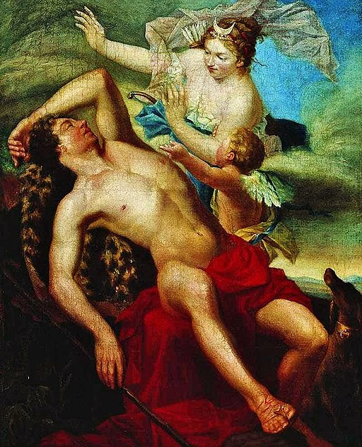 Painting of Selene and Endymion