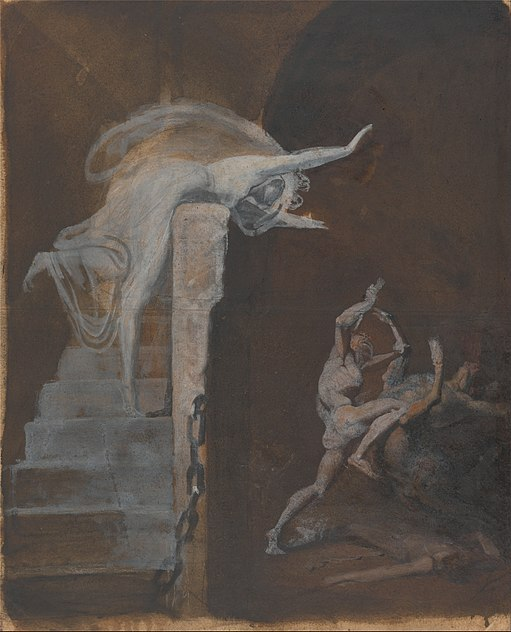 Ariadne watching the struggle of theseus with the minotaur - google art project