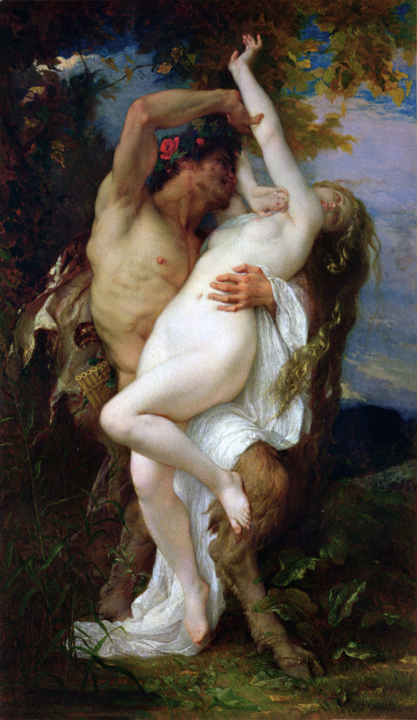 Nymph and Satyr Alexandre Cabenel 1860