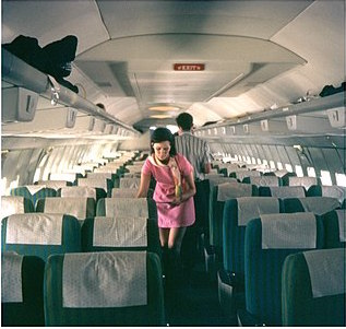 stewardess on a plane