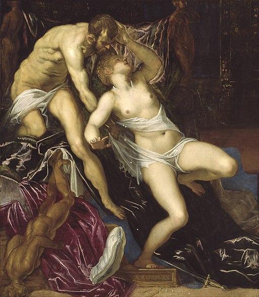 Painting of tintoretto and lukrecja