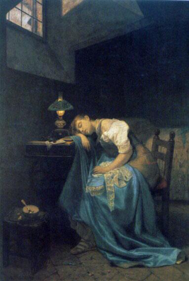 a tired seamstress